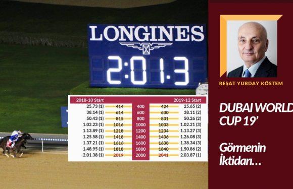 DUBAI WORLD CUP 19' – Görmenin İktidarı…