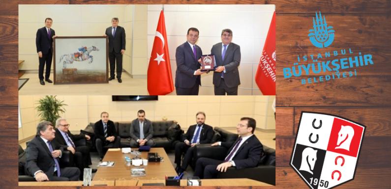 TJK Yönetiminden İBB Başkanına ziyaret…
