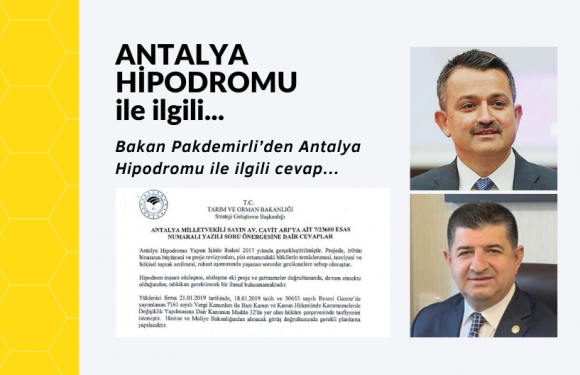 Bakan Pakdemirli'den Antalya Hipodromu için cevap!