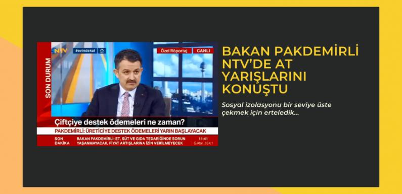 Bakan Pakdemirli NTV'de At Yarışlarını konuştu