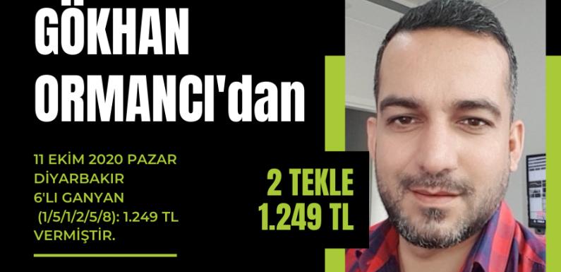 Gökhan Ormancı'dan 2 Tekle 1.249 TL…