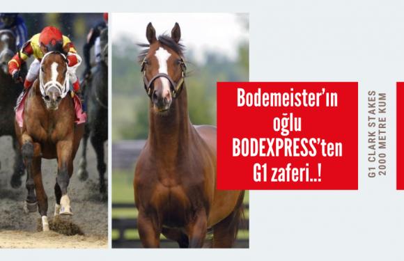 Bodemeister'ın oğlu BODEXPRESS'ten G1 zaferi..!