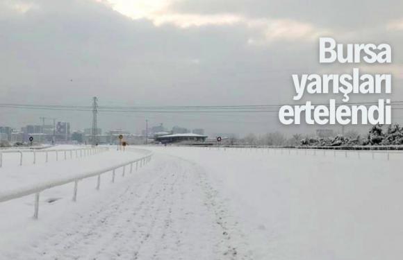 Bursa'da bugün de yarış yok!