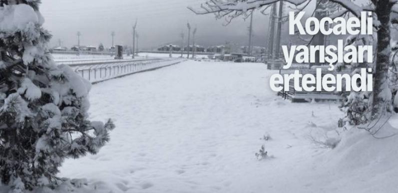 Kocaeli yarışları kar yağışı nedeniyle ertelendi!