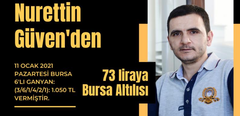 Nurettin Güven'den 73 liraya Bursa Altılısı…