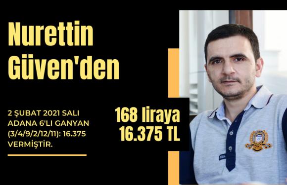 Nurettin Güven'den takipçilerine 16.375 TL…