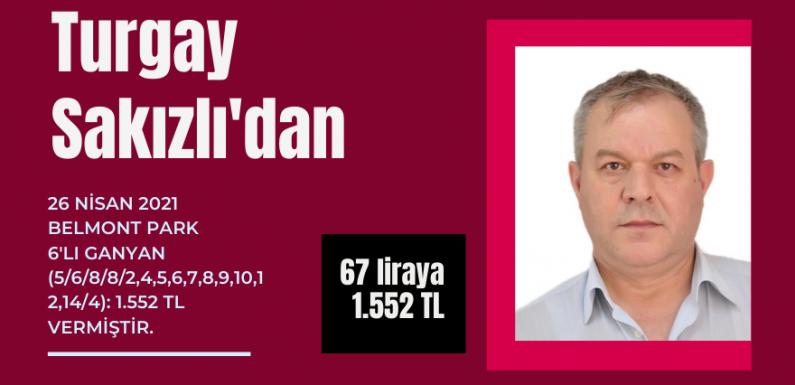 Turgay Sakızlı'dan takipçilerine 67 liraya 1.552 TL…