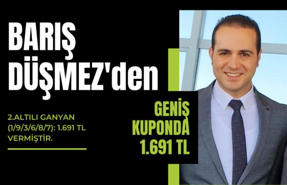 Barış Düşmez'den 1.691 TL