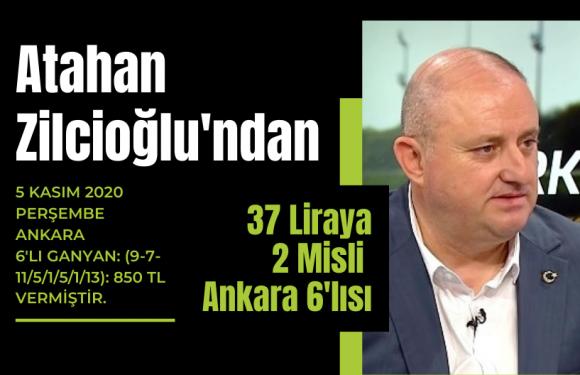 Atahan Zilcioğlu'ndan 37 liraya 2 Misli Ankara 6'lısı…