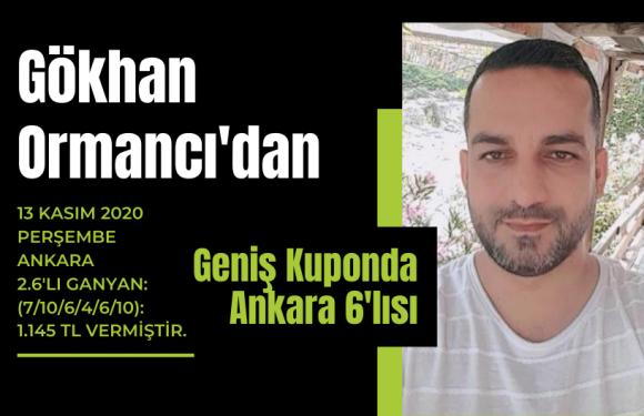 Gökhan Ormancı'dan Geniş Kuponda Ankara 6'lısı…