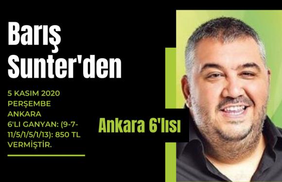 Barış Sunter'den Ankara 6'lısı!