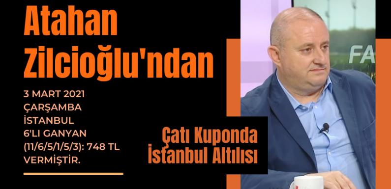 Zilcioğlu'ndan Çatı Kuponda İstanbul Altılısı…