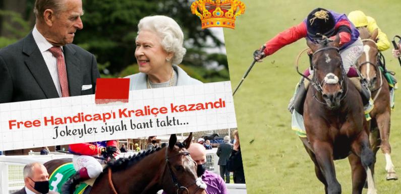 Free Handicapı Kraliçe kazandı, jokeyler siyah bant taktı