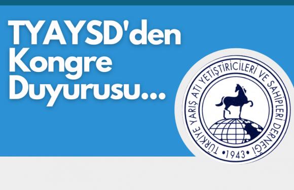 TYAYSD'den Kongre Duyurusu…